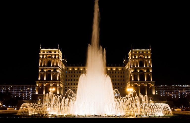 Government House at night. Baku, Azerbaijan